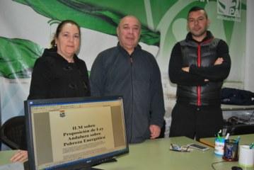 """Los andalucistas isleños consiguen la unanimidad del pleno contra la """"Pobreza Energética"""" de los Andaluces"""
