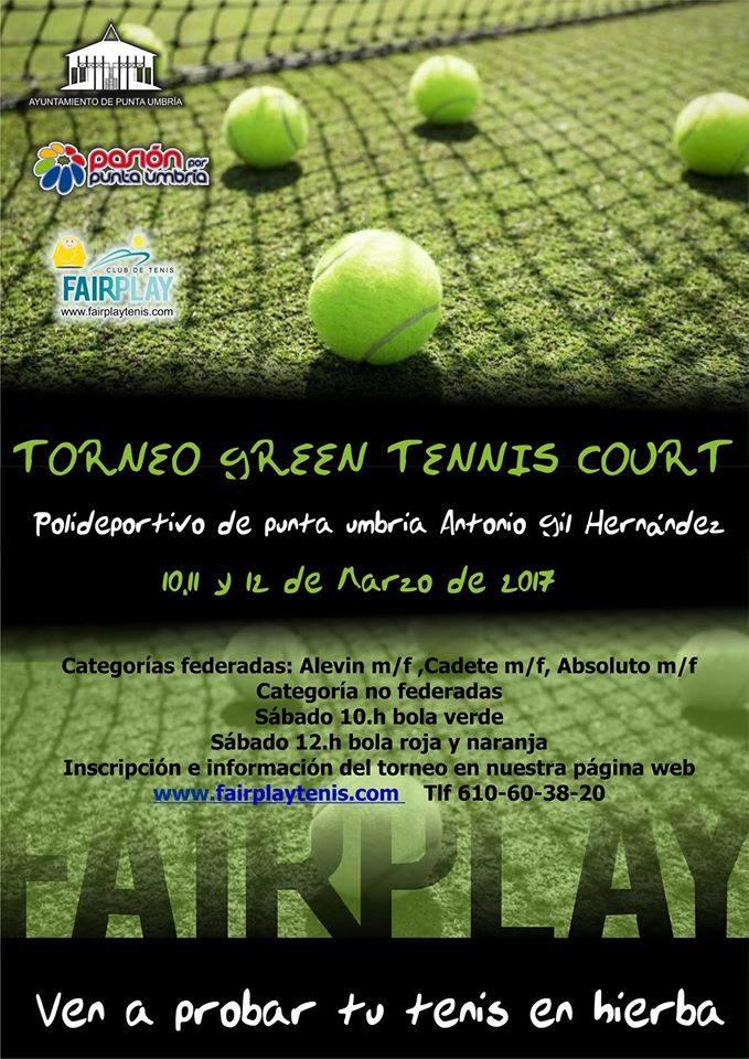 Este fin de semana se juega el Primer Torneo GREEN TENNIS COURT