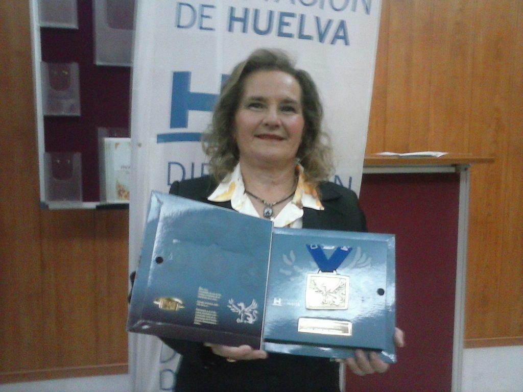 Homenaje a Vicenta Quintero Rodríguez, en la Gala del Atletismo Onubense