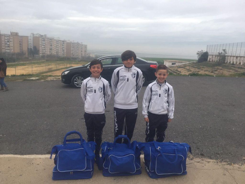 Jugadores isleños del Punta del Caimán alevín de fútbol sala, participaron en el Campeonato de Andalucía