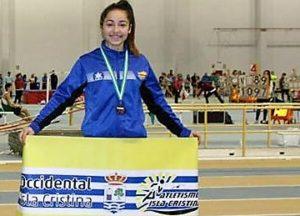 Inés Sequera en el XXX Campeonato de España Cadete en pista cubierta