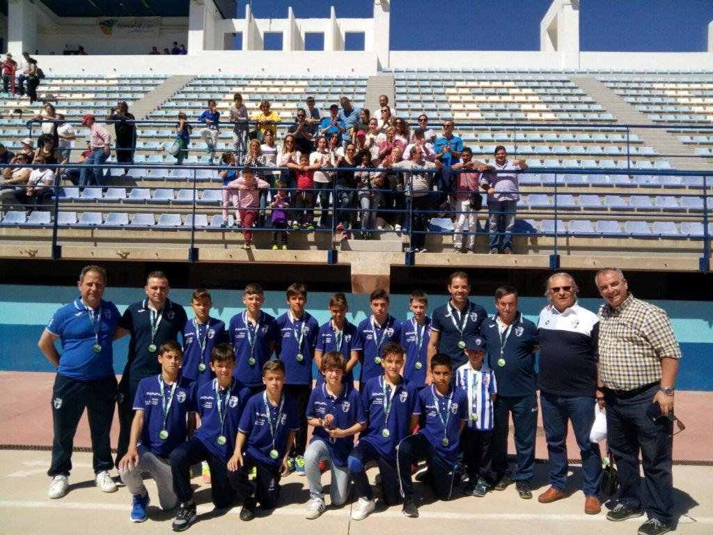 Notable Participación de la Selección Alevín de Huelva en el Campeonato de Andalucía de fútbol 8 en Almuñécar