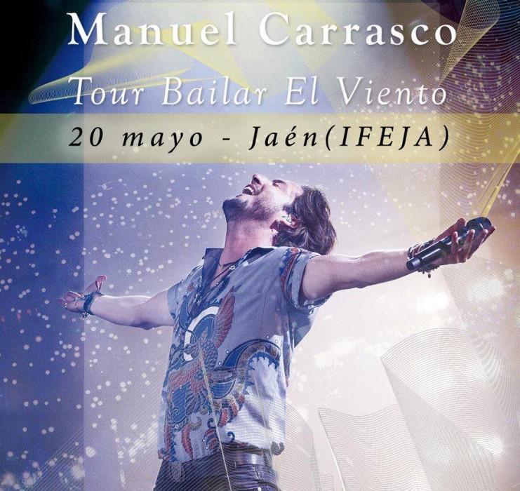 El Cantante Isleño Manuel Carrasco en Jaén con su gira 'Bailar el viento'