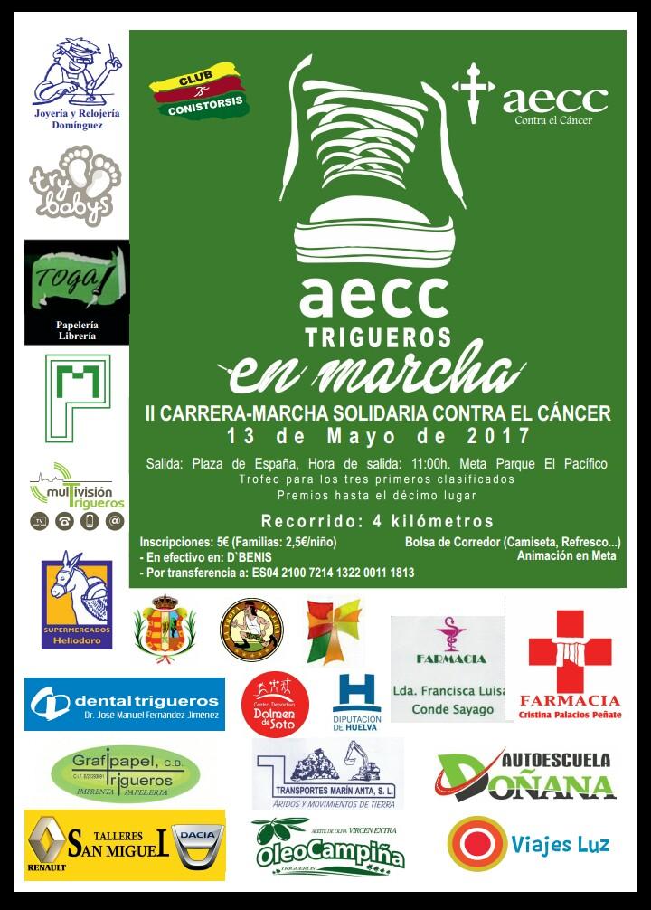 Trigueros celebra la II Carrera-Marcha Solidaria Contra el Cáncer