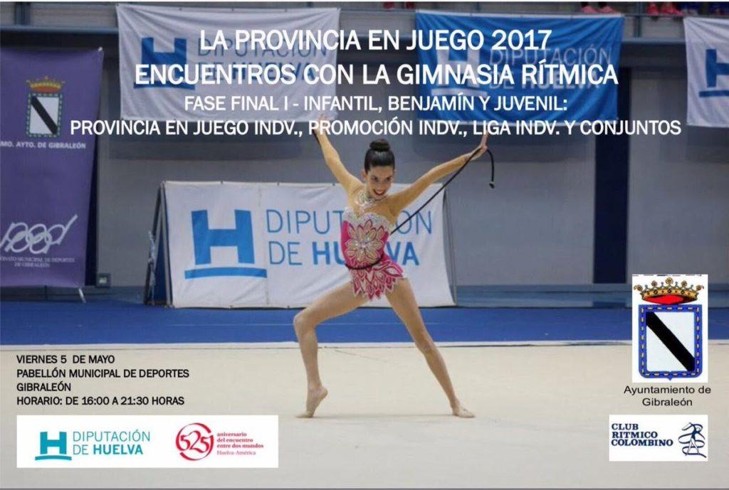 Buena actuación de la Gimnasia Rítmica isleña en la fase final celebrada en Gibraleón