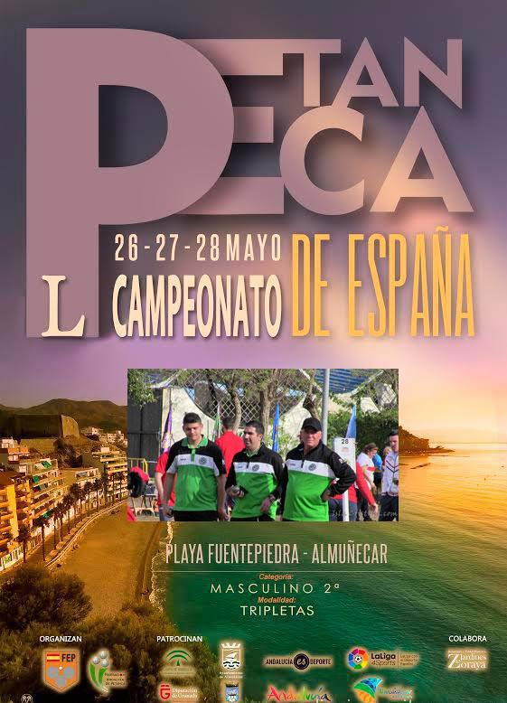 El Club de Petanca Virgen del Mar en busca del Podio en el Campeonato de España