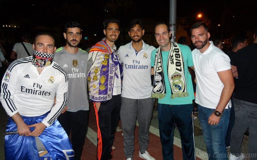 La afición madridista isleña celebra el campeonato de liga