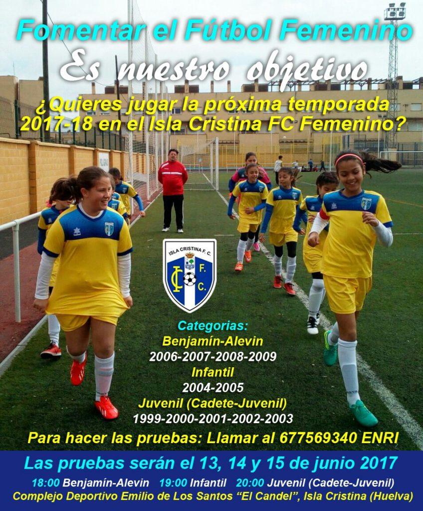 Abierto el período de pruebas para el acceso a la Cantera del Isla Cristina F.C.