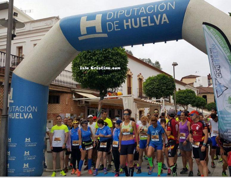 Alejandro Reina y Noemí Delgado ganan el trail de Nerva