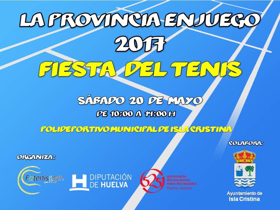 La Fiesta del Tenis, sábado día 20 de mayo en Isla Cristina