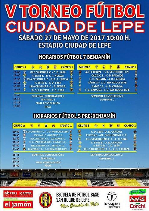 La cantera del Isla Cristina F.C. participa en el «V Torneo de Fútbol Ciudad de Lepe»