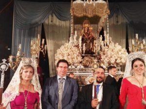 Isla Cristina, presente en el 25 Aniversario de la coronación de la Virgen Bella