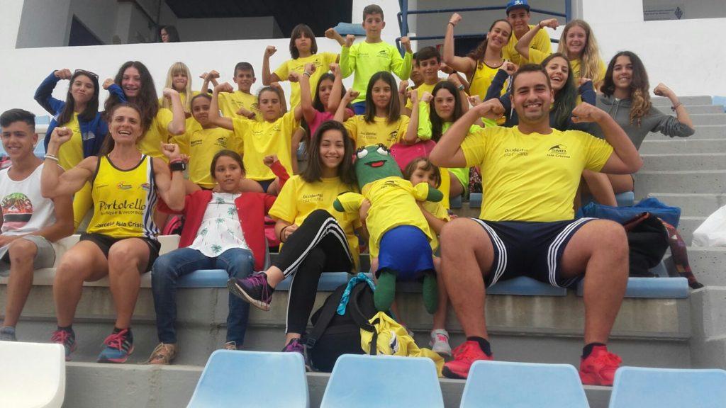 La base onubense trae 7 medallas del Campeonato de Andalucía de Atletismo Alevín