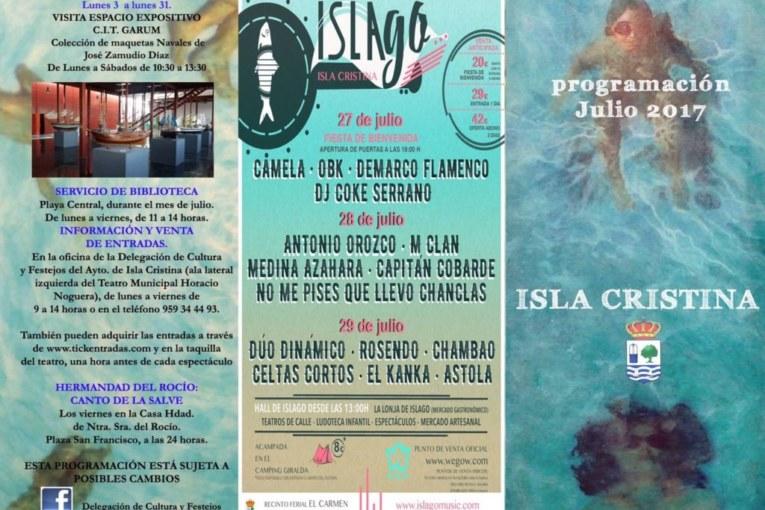 Programación julio 2017 Isla Cristina