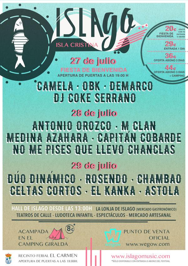 El festival IslaGo de Isla Cristina amplía su cartel