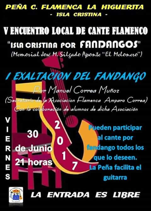 """V Encuentro Local de Cante Flamenco """"Isla Cristina por Fandangos"""""""