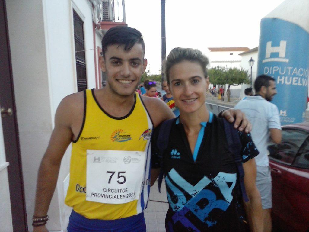El atleta isleño Ángel Real y Rocío Espada ganan la Milla de Trigueros