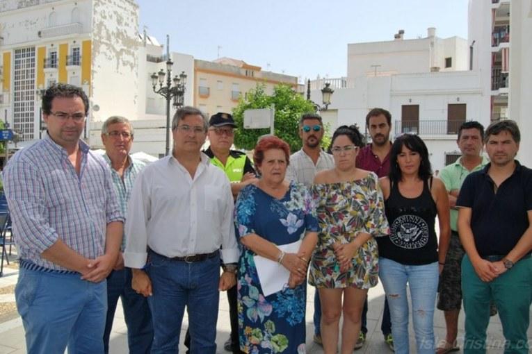 Isla Cristina rinde homenaje a la memoria de Miguel Ángel Blanco