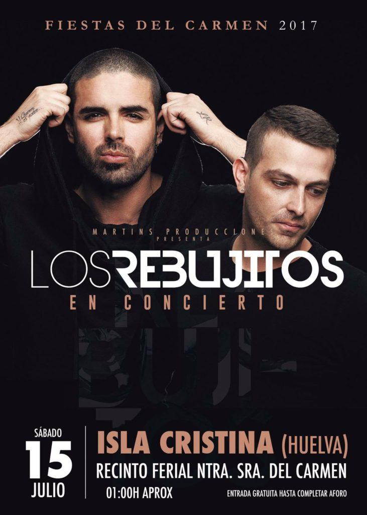 Concierto de «Los Rebujitos» en las fiestas del Carmen de Isla Cristina