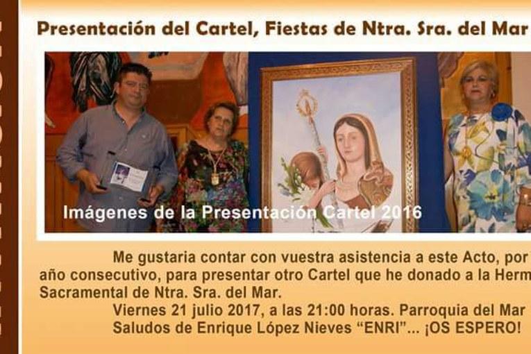 Presentación en Isla Cristina del Cartel, Fiestas de Ntra. Sra. del Mar