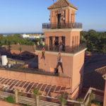 Inauguración del Parque 'El Camaleón' y de la tirolina urbana más larga de Europa en Islantilla