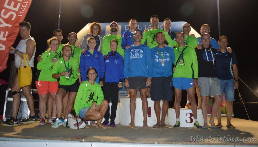 García Luna y Paula Rodríguez ganan la Carrera Nocturna Playas de Punta Umbría