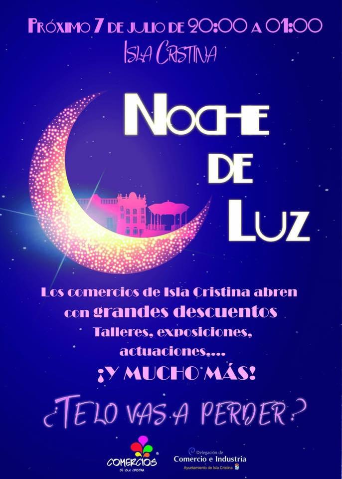 """Programación de la """"Noche de Luz"""" en Isla Cristina"""