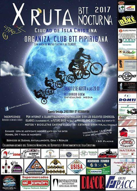 X Ruta BTT Nocturna Ciudad de Isla Cristina