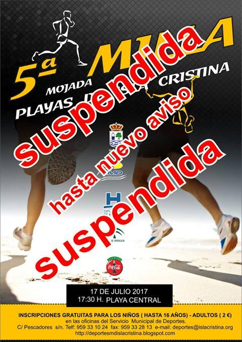 Aplazada la «5ª Milla Mojada de Isla Cristina»