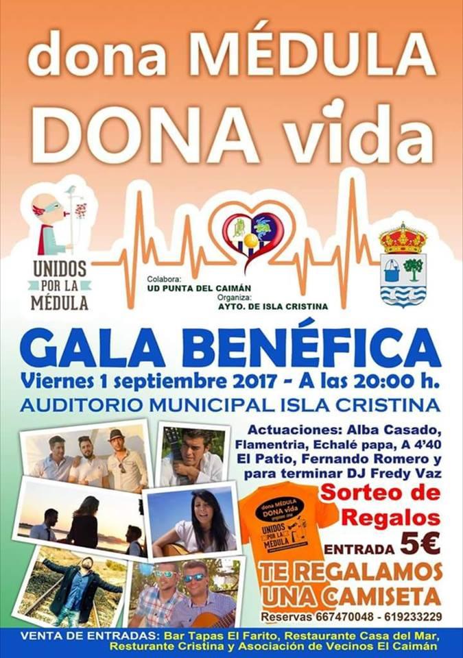 """""""Gala Benéfica Dona Medula Dona Vida"""" este próximo viernes en Isla Cristina"""