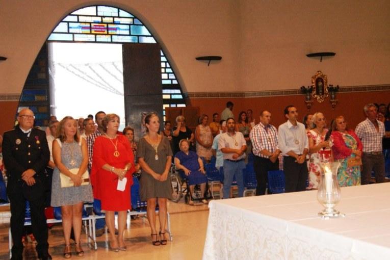 Celebrada en Isla Cristina una misa dedicada a los marineros en la Punta del Caimán