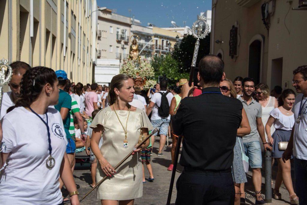 La Virgen del Mar volvió a recorrer las calles de su barriada isleña Punta del Caimán