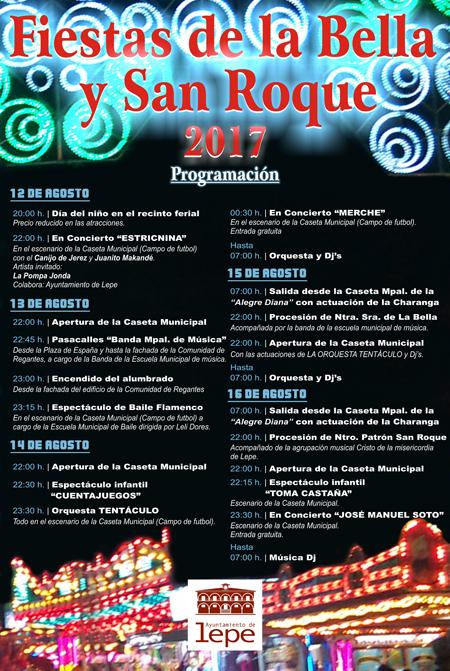 Programación de las Fiestas Patronales de La Bella y San Roque 2017