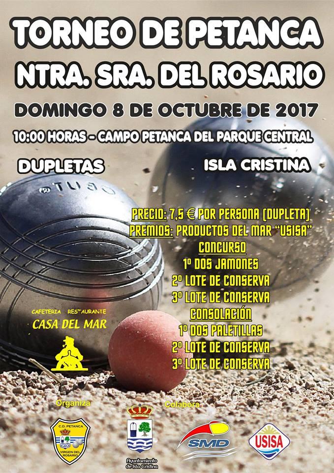 El Torneo de Petanca Ntra. Sra. del Rosario se celebra el 8 de octubre