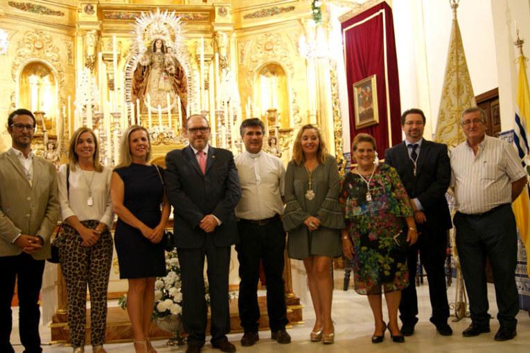 Jerónimo Sosa declama a la Virgen del Rosario, Patrona de Isla Cristina