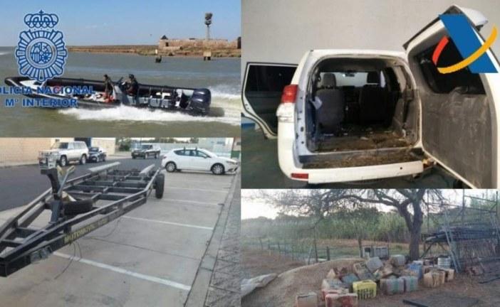 Intervenida una tonelada de hachís a una organización de narcotransporte de Huelva