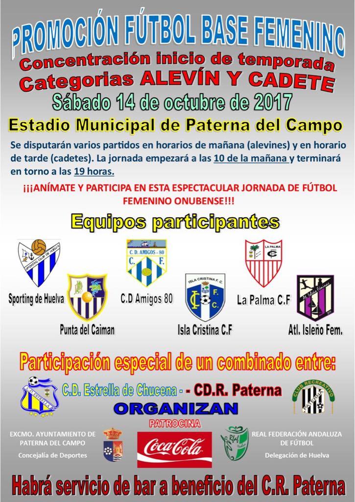 La Cantera isleña participa en la Fiesta del fútbol base femenina en Paterna del Campo