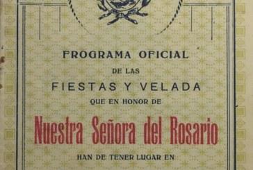 El Documento del Mes en Isla Cristina, rescata un programa de las Fiestas de la Virgen del Rosario de 1926