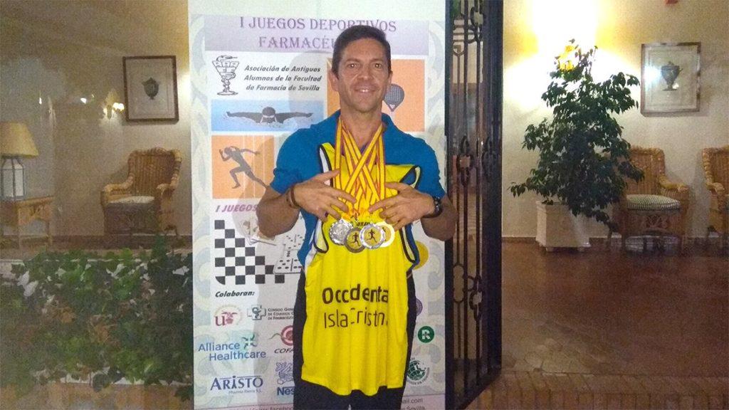 Oro, Plata y Bronce, para el atleta isleño Juanjo González en Sevilla