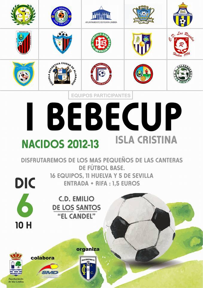 """El Isla Cristina FC organiza el 6 de diciembre el """" I Torneo BEBÉCUP"""""""