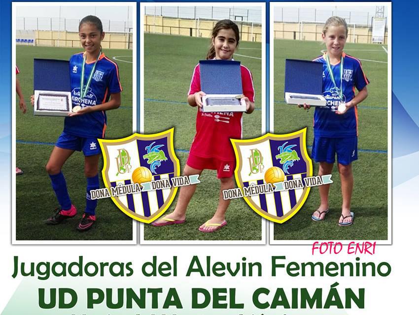Jugadoras Alevines del Punta del Caimán con la Selección Onubense