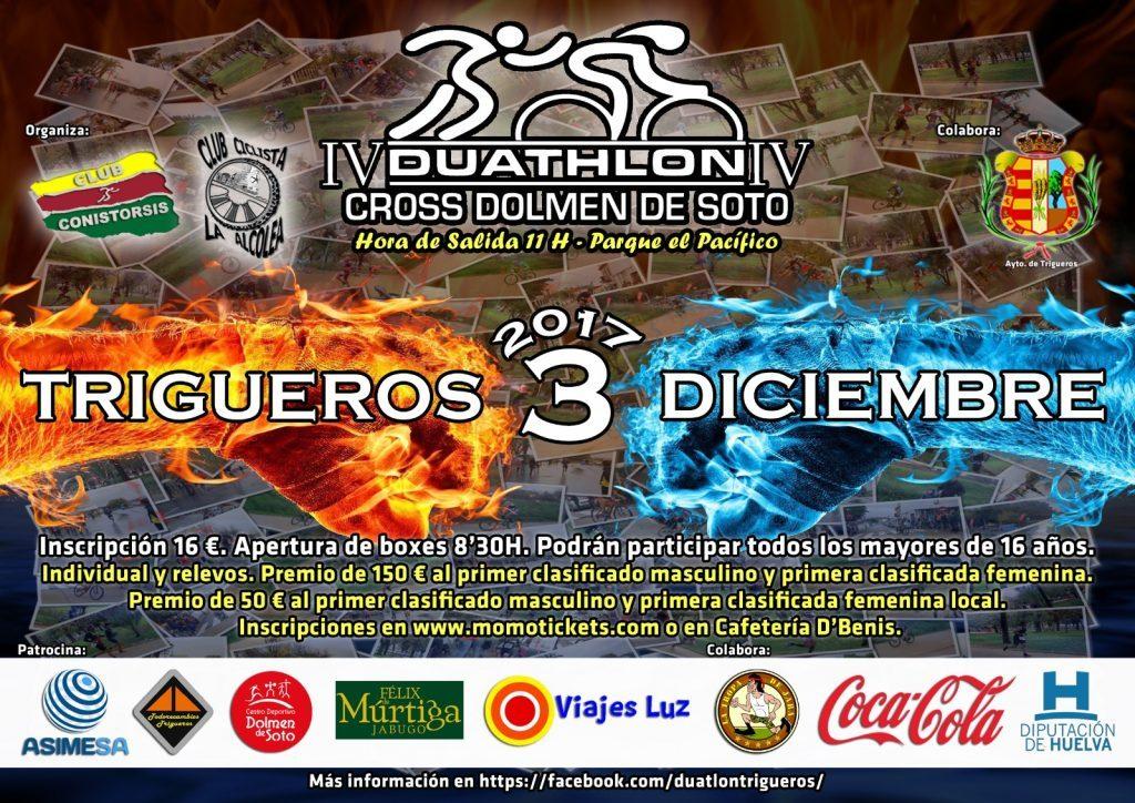 Trigueros celebra el IV Duathlón Cross Dolmen de Soto