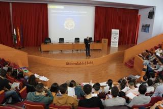 Un centenar de aspirantes a policía de toda Andalucía asisten a las II Jornadas de Escala Básica CNP de Gesi en la UHU