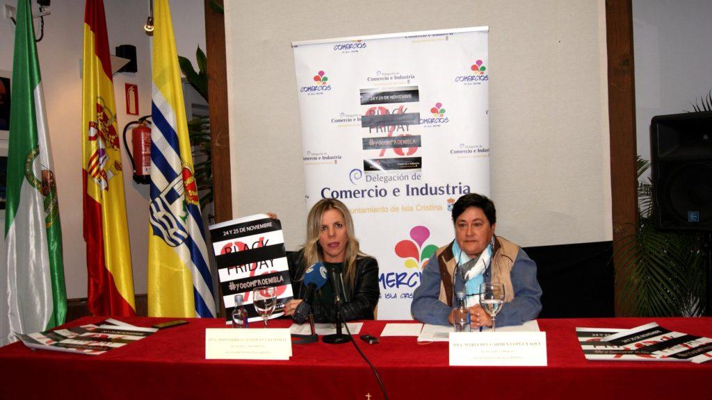 La Alcaldesa presenta el Black Friday de Isla Cristina