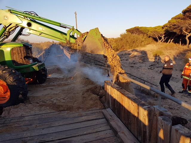 Le vuelven a prender fuego al Paseo Litoral de Isla Cristina