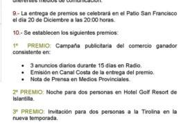 Bases del III Concurso Escaparates de Navidad 2017 de Isla Cristina