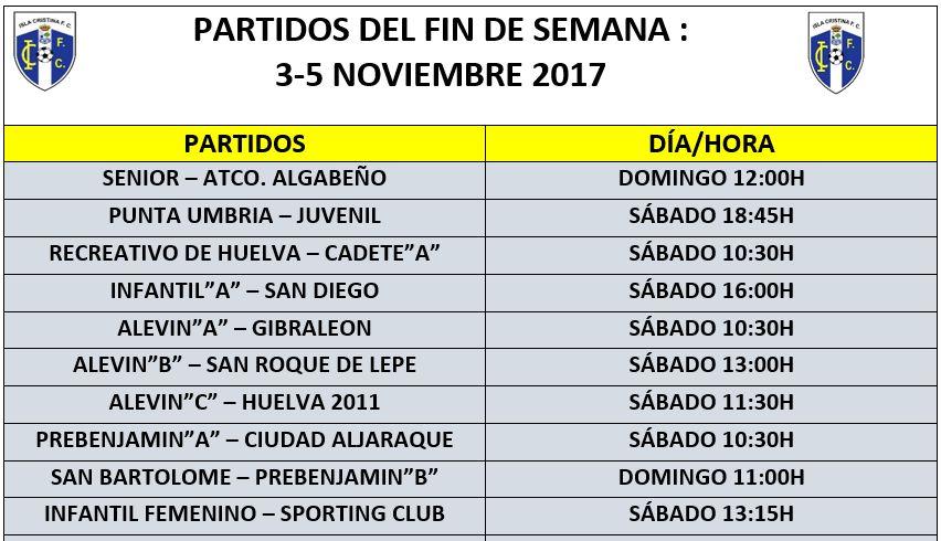 Partidos del Fin de Semana Isla Cristina FC
