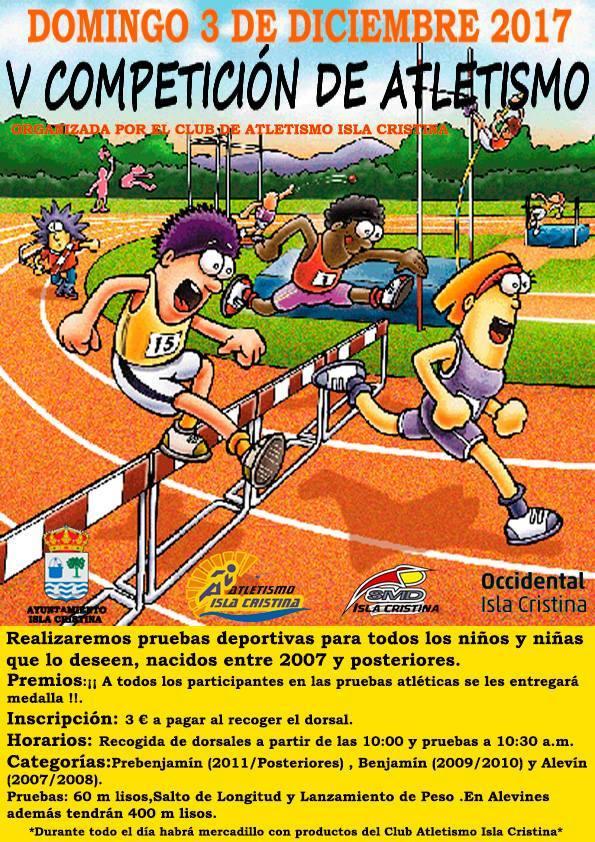 """El Próximo domingo Isla Cristina Celebra la """"V Competición de Atletismo"""""""
