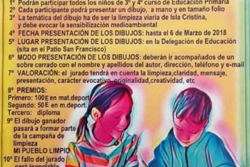 """El Ayuntamiento de Isla Cristina pone en marcha el concurso de dibujos """"Mi Pueblo Limpio"""""""