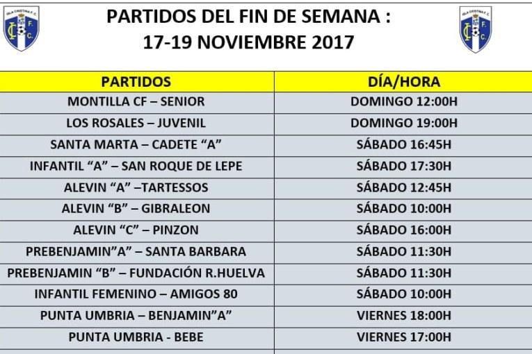 Agenda Futbolera Fin de Semana.  Isla Cristina FC